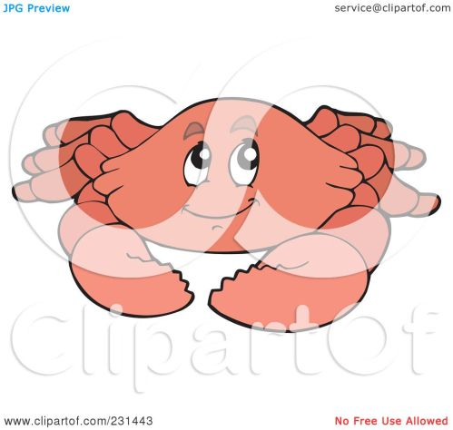 small resolution of royalty free rf clipart illustration of a happy pink crab by visekart