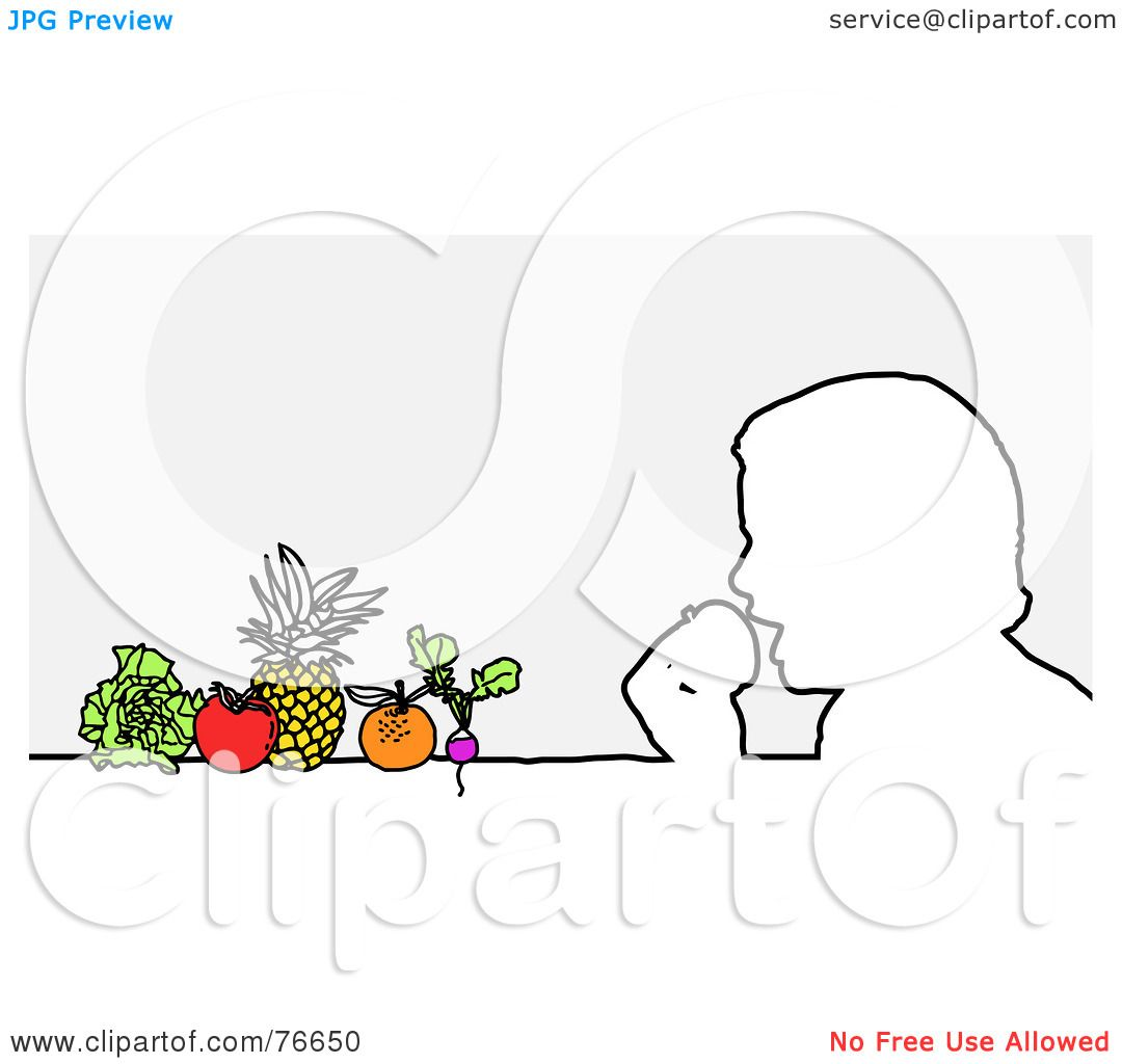 Royalty-Free (RF) Clipart Illustration of a Head Outline