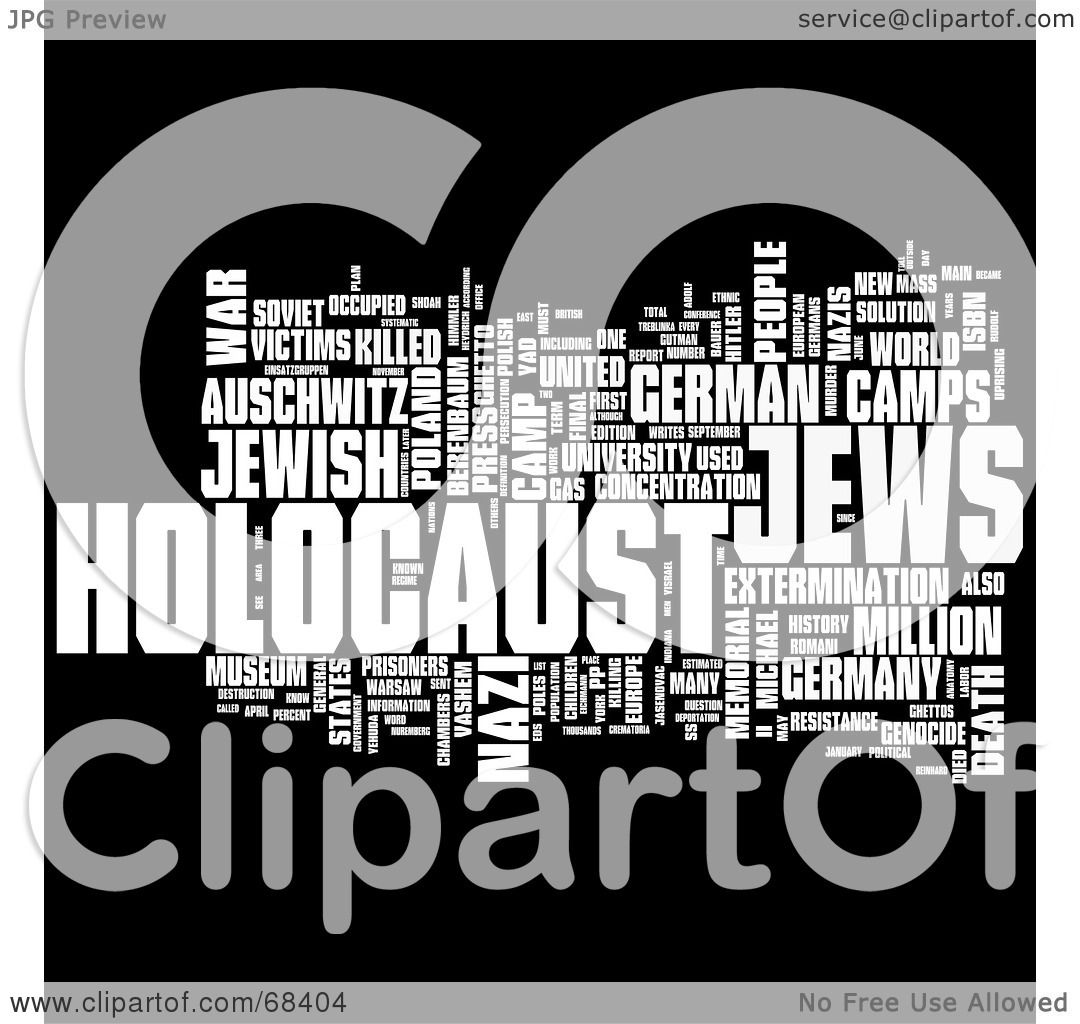 Royalty Free Rf Clipart Illustration Of A Holocaust Word