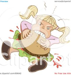 royalty free rf clipart illustration of a hungry blond girl shoving a hamburger in her mouth by milsiart [ 1080 x 1024 Pixel ]
