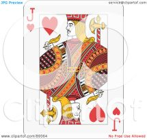 Jack Hearts Playing Card