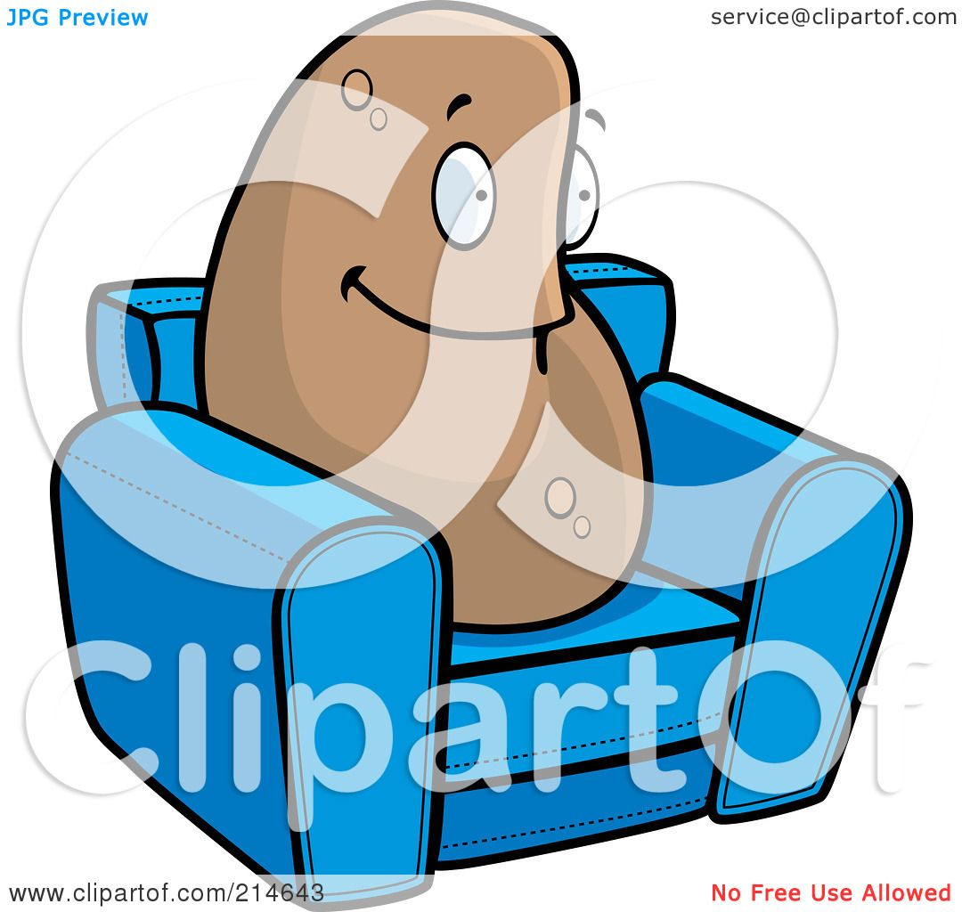 hight resolution of royalty free rf clipart illustration of a lazy couch potato on a blue