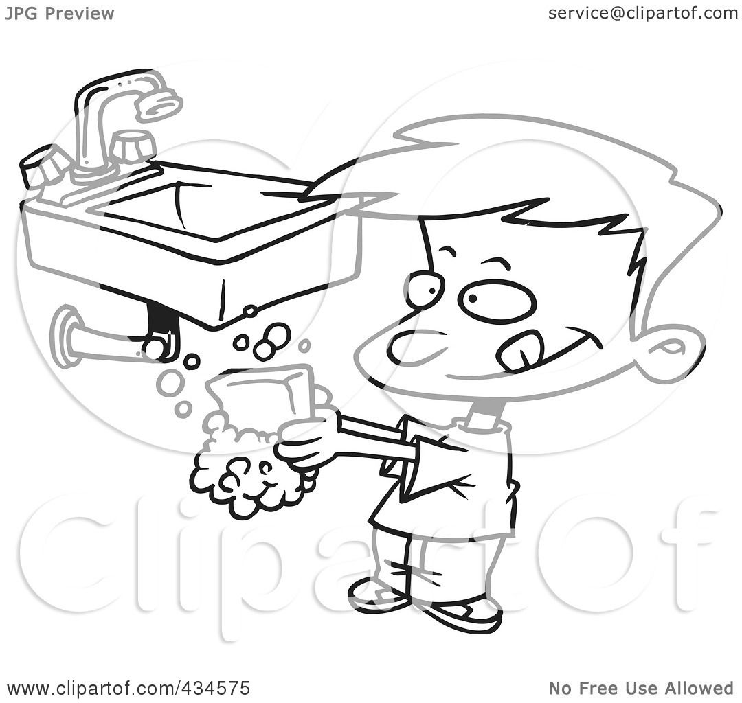 Royalty-Free (RF) Clipart Illustration of a Line Art