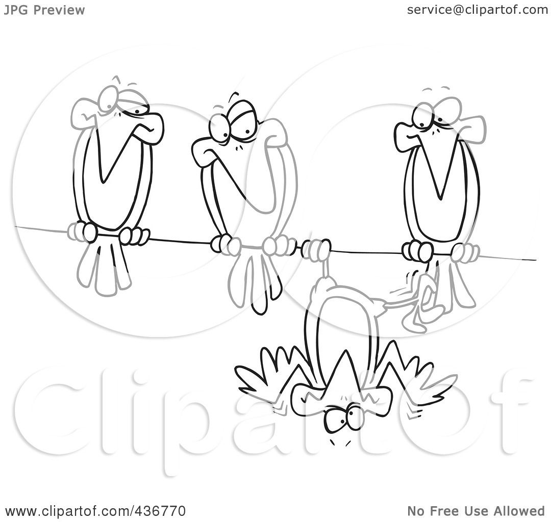Royalty free rf clipart illustration of a line art design of a