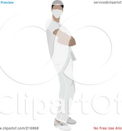 royalty free rf clipart illustration of a male nurse in white scrubs by leonid [ 1080 x 1024 Pixel ]