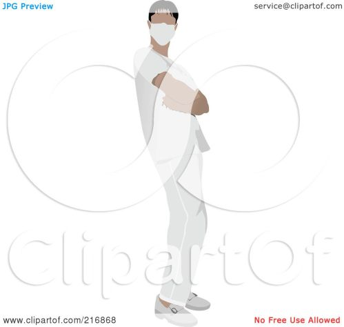 small resolution of royalty free rf clipart illustration of a male nurse in white scrubs by leonid