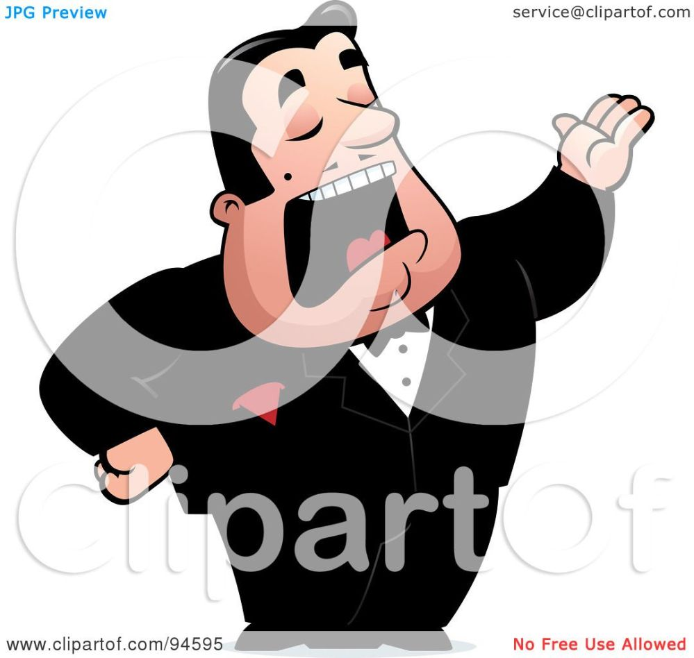 medium resolution of royalty free rf clipart illustration of a male opera singer singing by cory thoman