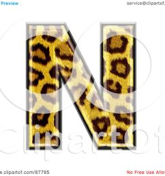 royalty free rf clipart illustration of a panther symbol capital letter n by chrisroll [ 1080 x 1024 Pixel ]