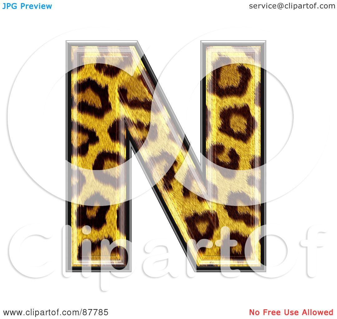 hight resolution of royalty free rf clipart illustration of a panther symbol capital letter n by chrisroll