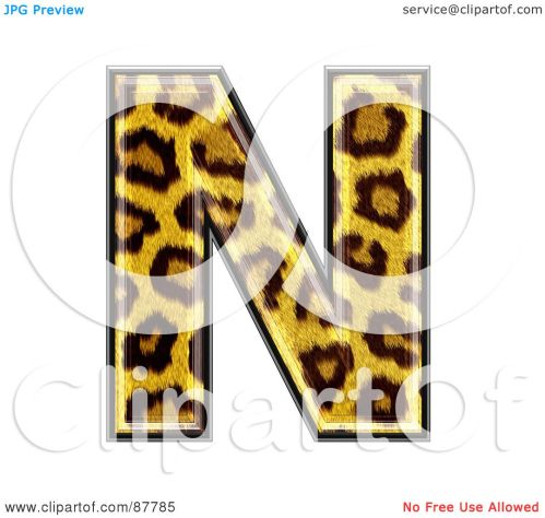 small resolution of royalty free rf clipart illustration of a panther symbol capital letter n by chrisroll