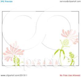 border pink floral horizontal clipart royalty rf cherie reve