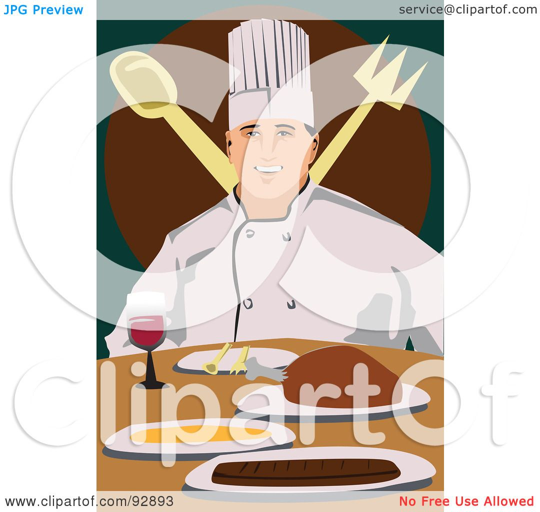 hight resolution of royalty free rf clipart illustration of a professional culinary chef 7 by