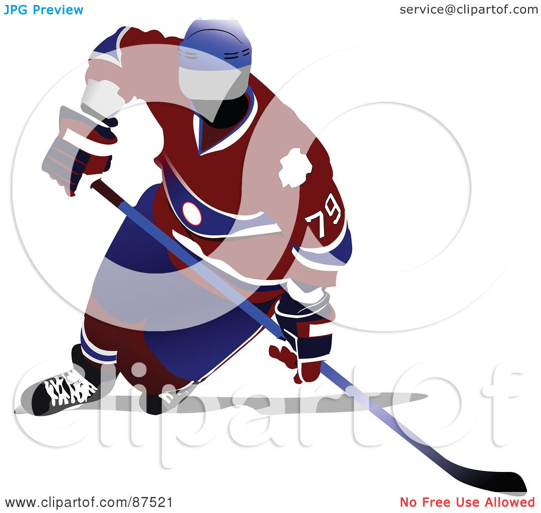 hight resolution of royalty free rf clipart illustration of a professional hockey player leaning by leonid