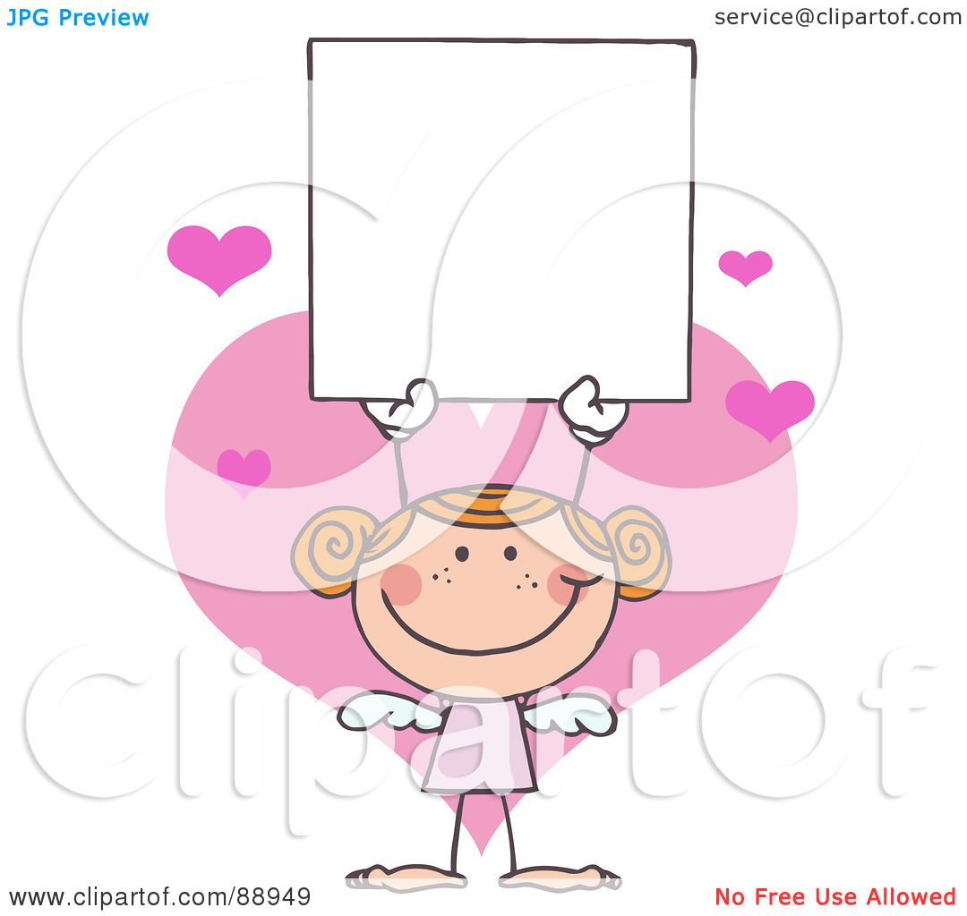 hight resolution of royalty free rf clipart illustration of a red haired female stick cupid holding