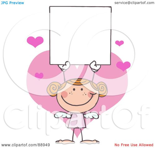 small resolution of royalty free rf clipart illustration of a red haired female stick cupid holding