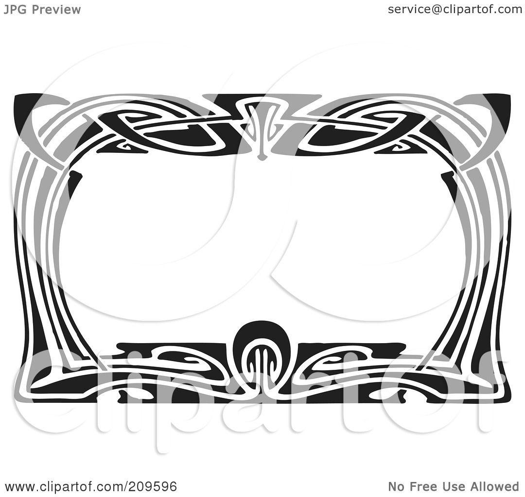 Royalty-Free (RF) Clipart Illustration of a Retro Black