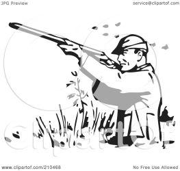 shooting clipart wading ducks retro rf bestvector