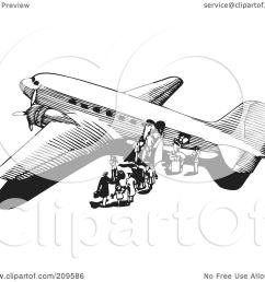 royalty free rf clipart illustration of a retro black and white plane  [ 1080 x 1024 Pixel ]