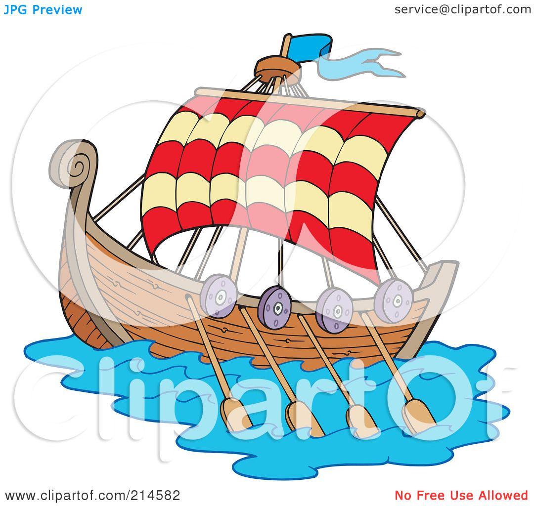 Royalty Free Rf Clipart Illustration Of A Sailing Viking