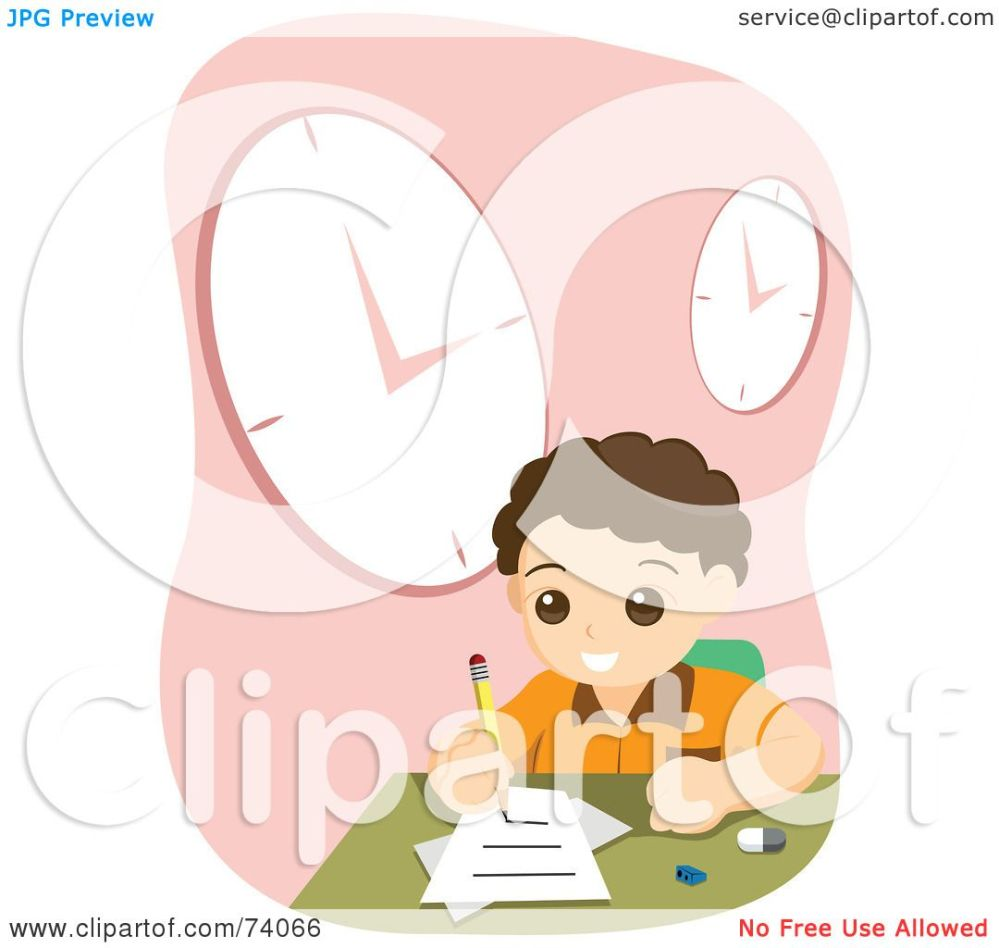 medium resolution of royalty free rf clipart illustration of a school boy doing his home work