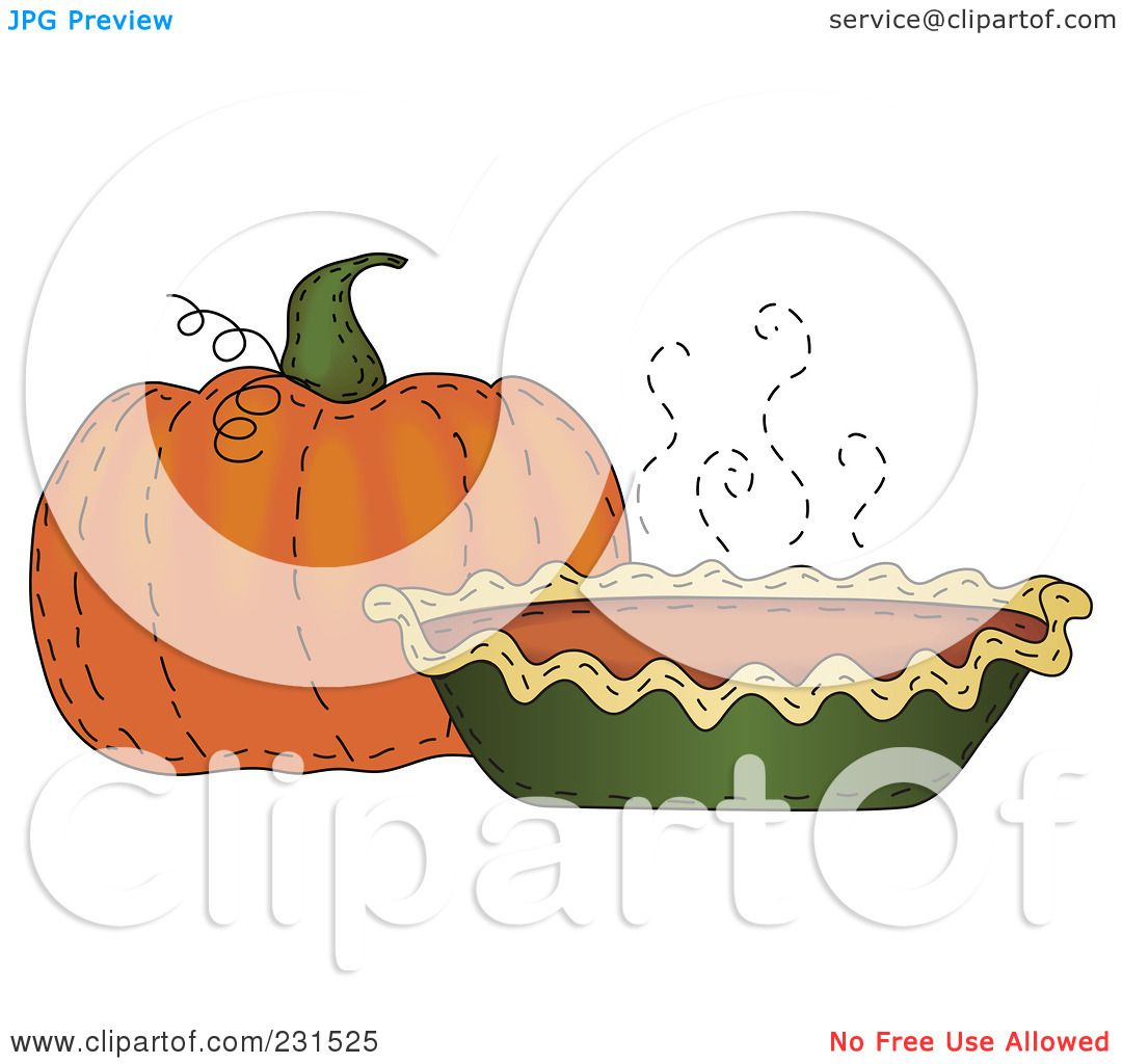 hight resolution of royalty free rf clipart illustration of a sewn folk art styled pumpkin and pumpkin pie by inkgraphics