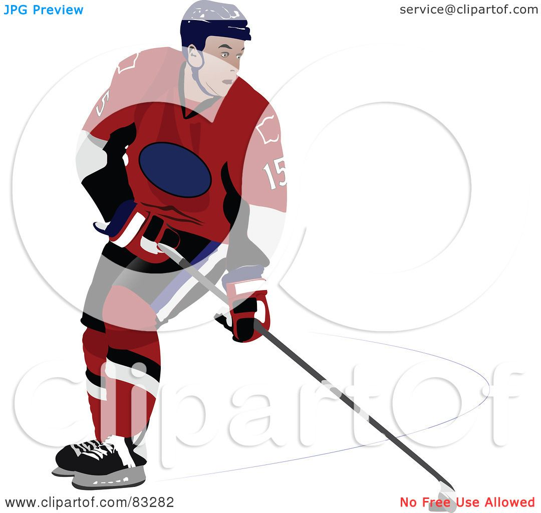 hight resolution of royalty free rf clipart illustration of a single ice hockey player by leonid