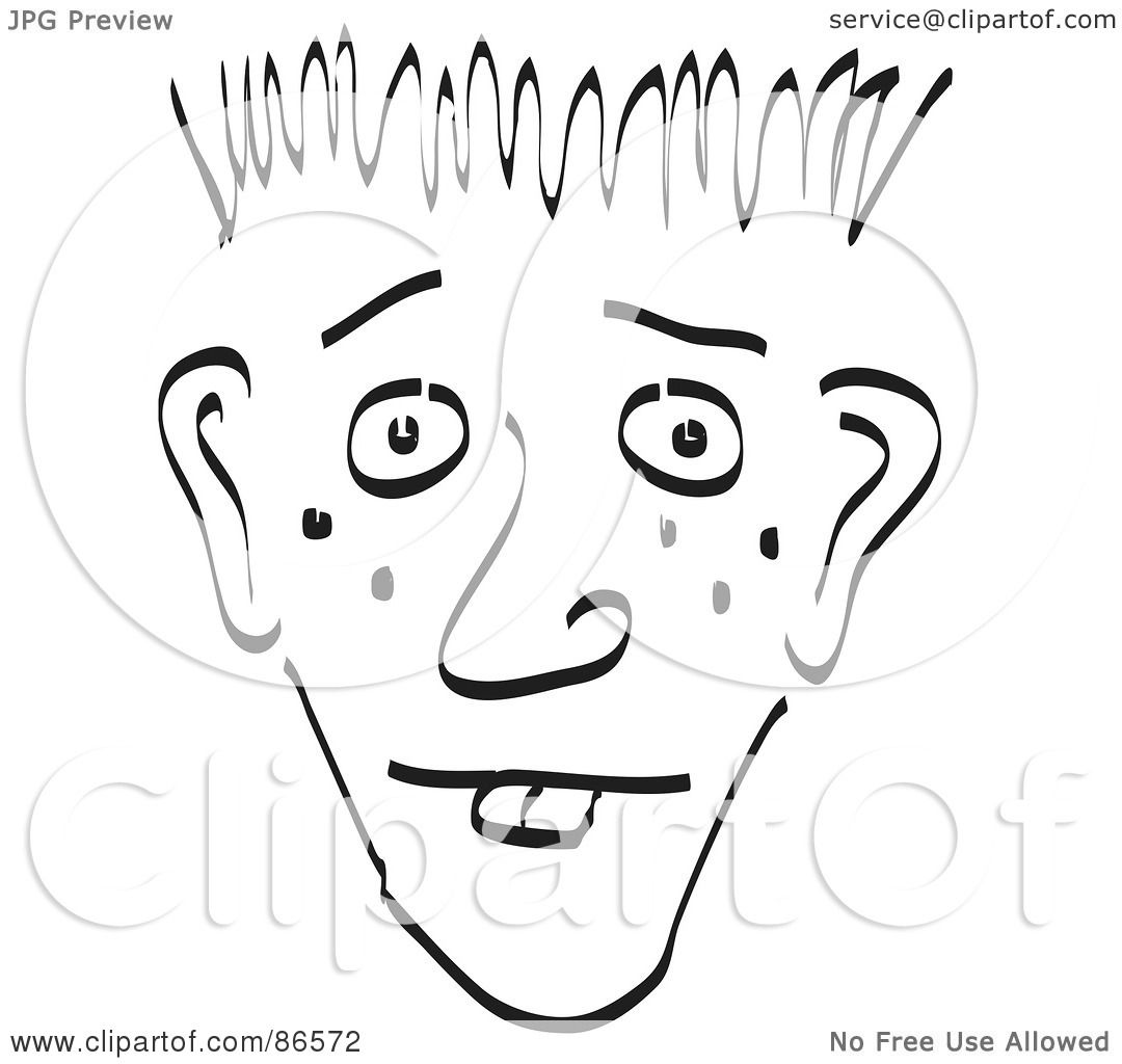 Royalty Free Rf Clipart Illustration Of A Sketched Face