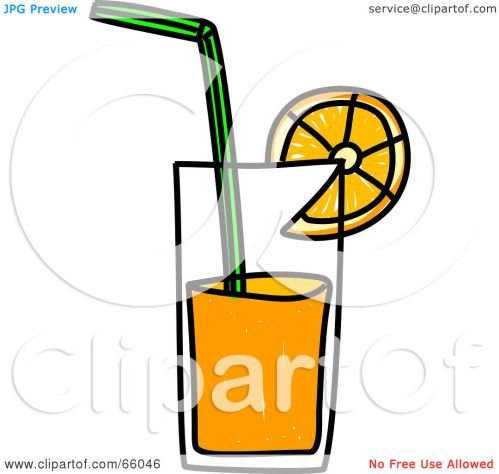 small resolution of royalty free rf clipart illustration of a sketched glass of orange juice by
