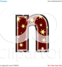 royalty free rf clipart illustration of a starry symbol lowercase letter n by chrisroll [ 1080 x 1024 Pixel ]