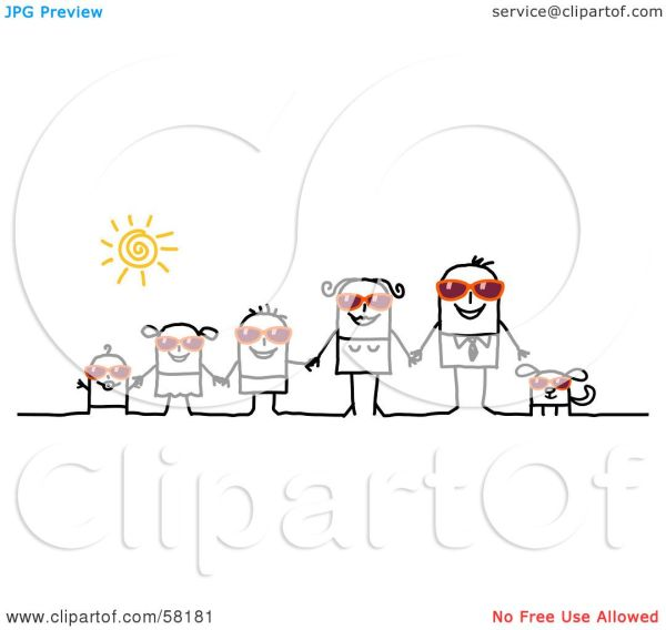 RoyaltyFree RF Clipart Illustration of a Stick People