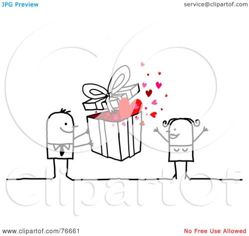 small resolution of royalty free rf clipart illustration of a stick people character man giving a