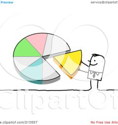 royalty free rf clipart illustration of a stick person man pushing a piece of a pie chart into place by nl shop [ 1080 x 1024 Pixel ]