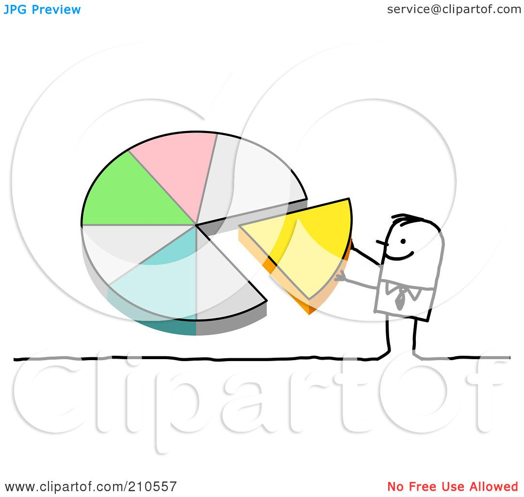 hight resolution of royalty free rf clipart illustration of a stick person man pushing a piece of a pie chart into place by nl shop