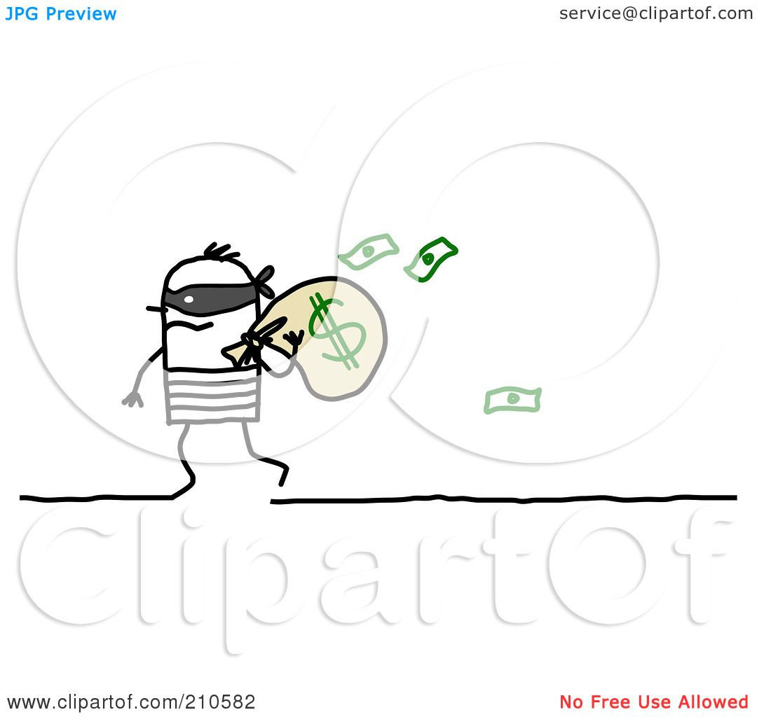 Royalty Free Rf Clipart Illustration Of A Stick Person