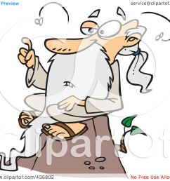 royalty free rf clipart illustration of a stinky old wise man sitting on [ 1080 x 1024 Pixel ]