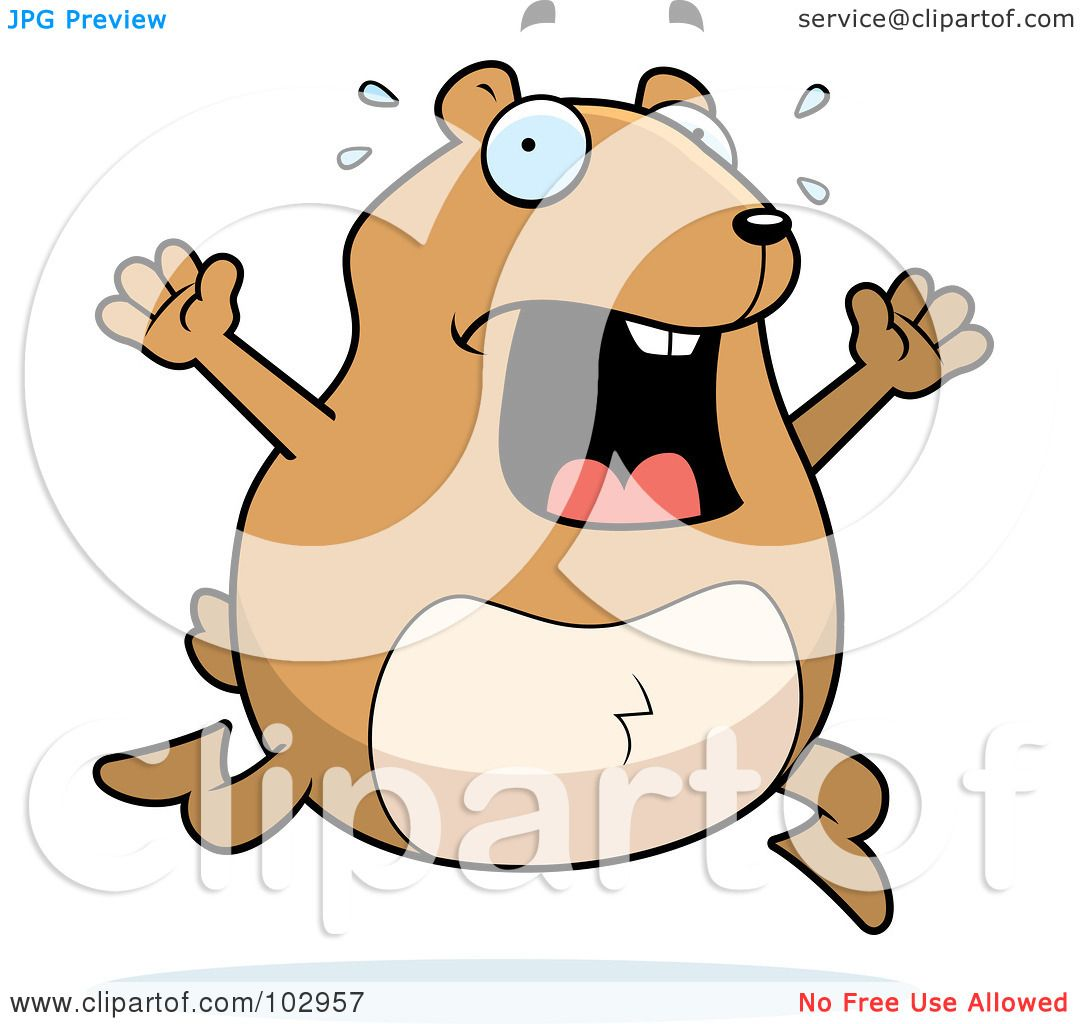 hight resolution of royalty free rf clipart illustration of a stressed hamster running by cory thoman