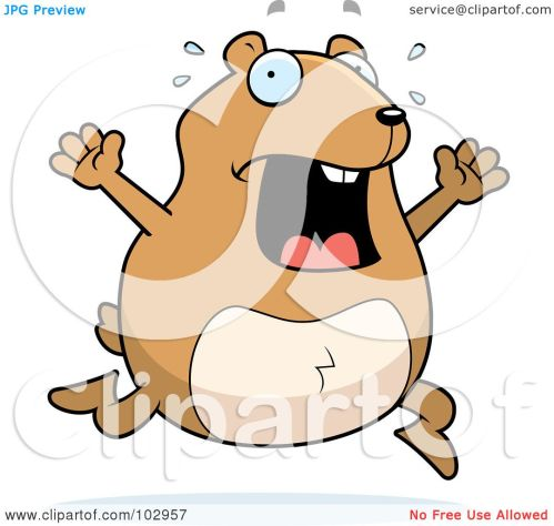 small resolution of royalty free rf clipart illustration of a stressed hamster running by cory thoman