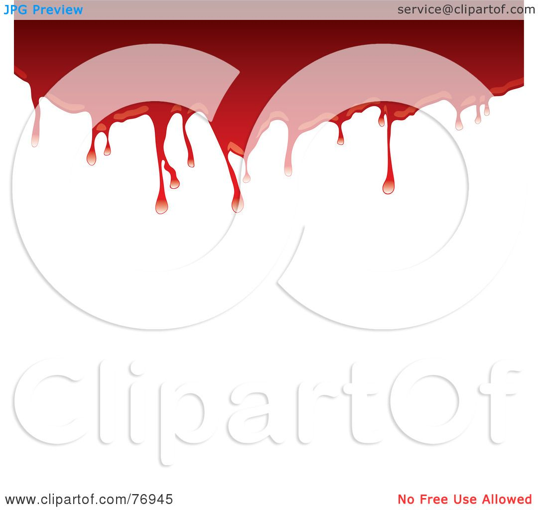 hight resolution of royalty free rf clipart illustration of a top border of dripping blood over