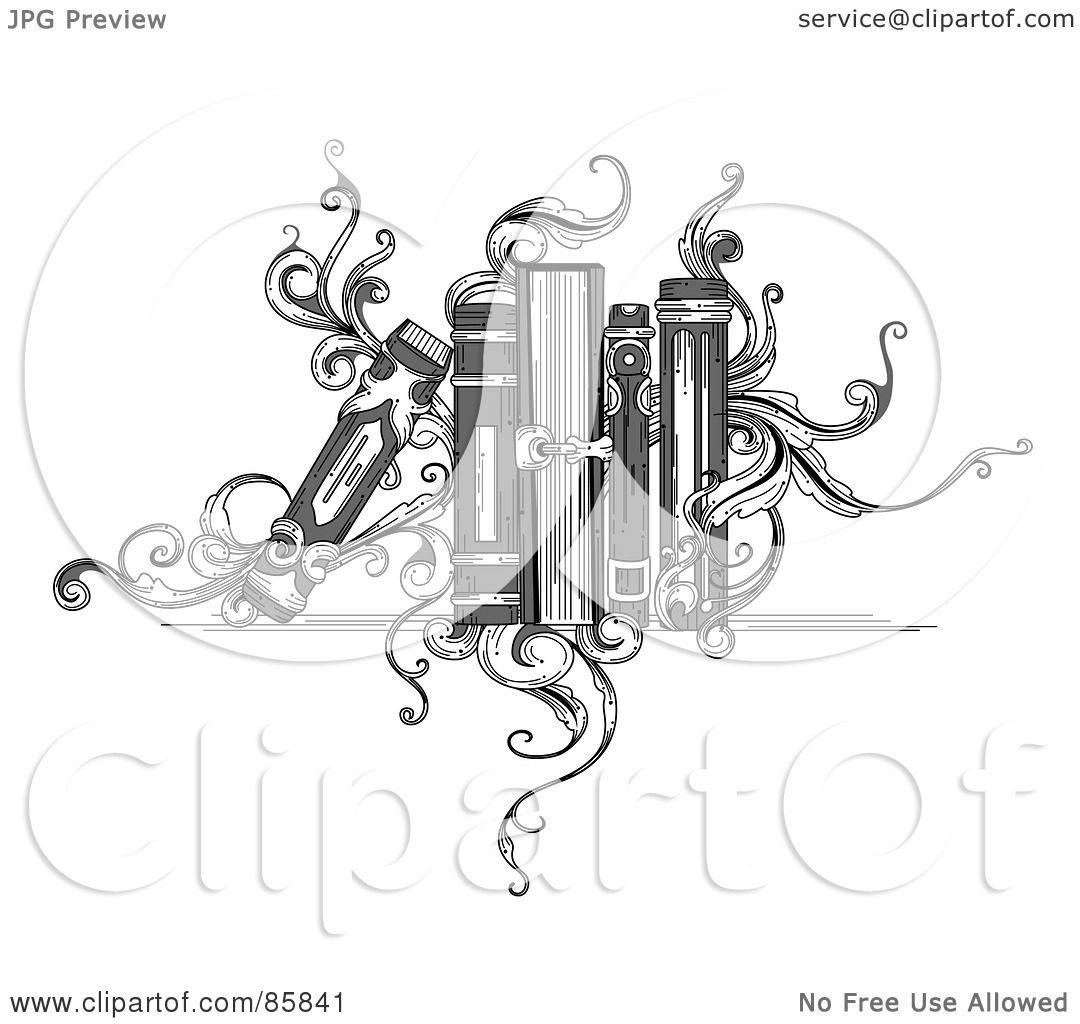 Royalty Free Rf Clipart Illustration Of A Vintage Black