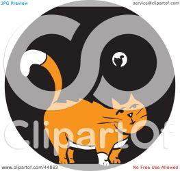 orange cat standing night clipart royalty rf illustration xunantunich animal