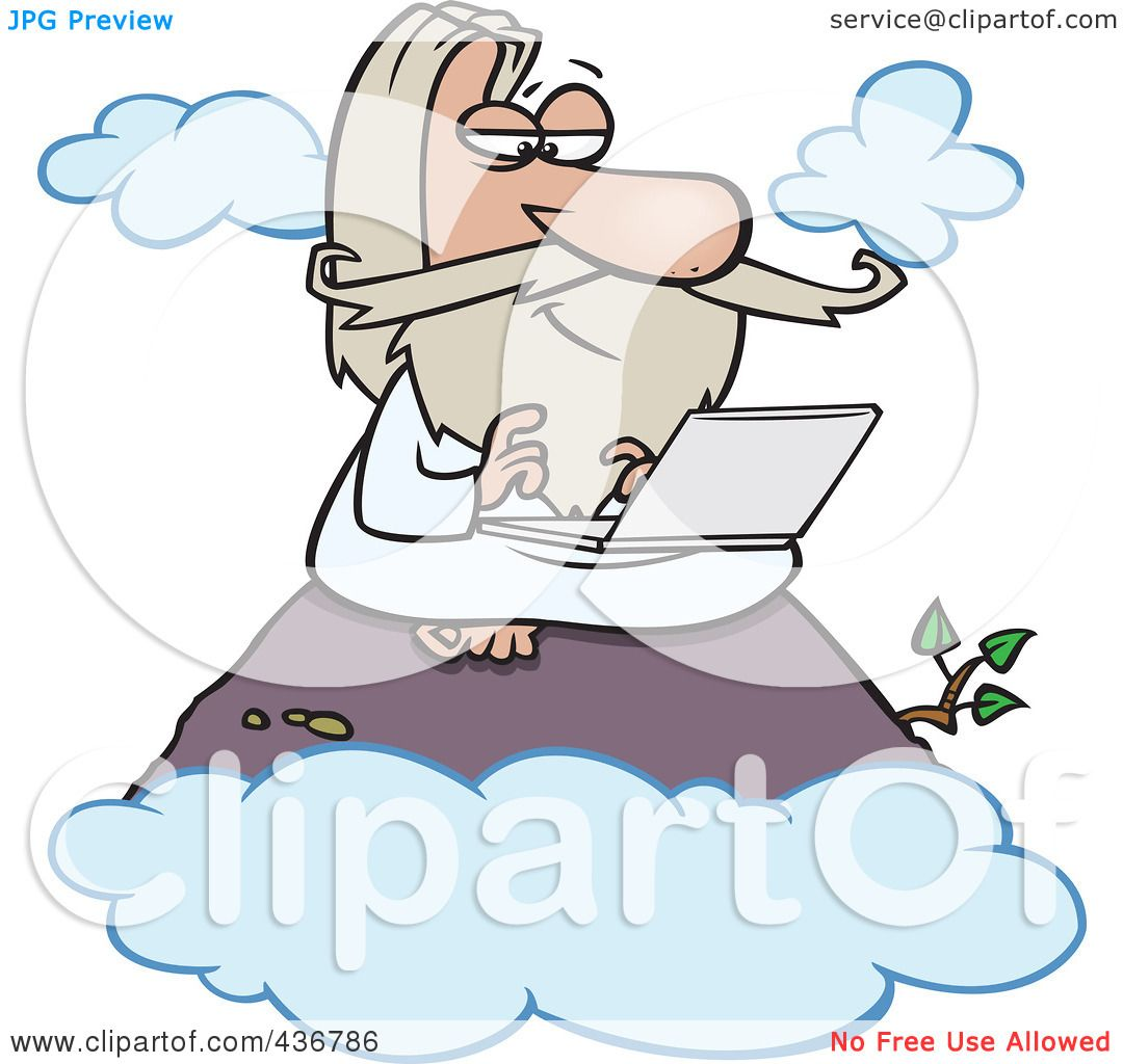hight resolution of royalty free rf clipart illustration of a wise man using a laptop on