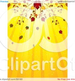royalty free rf clipart illustration of an elegant fall flourish above a yellow background of light rays by elaineitalia [ 1080 x 1024 Pixel ]