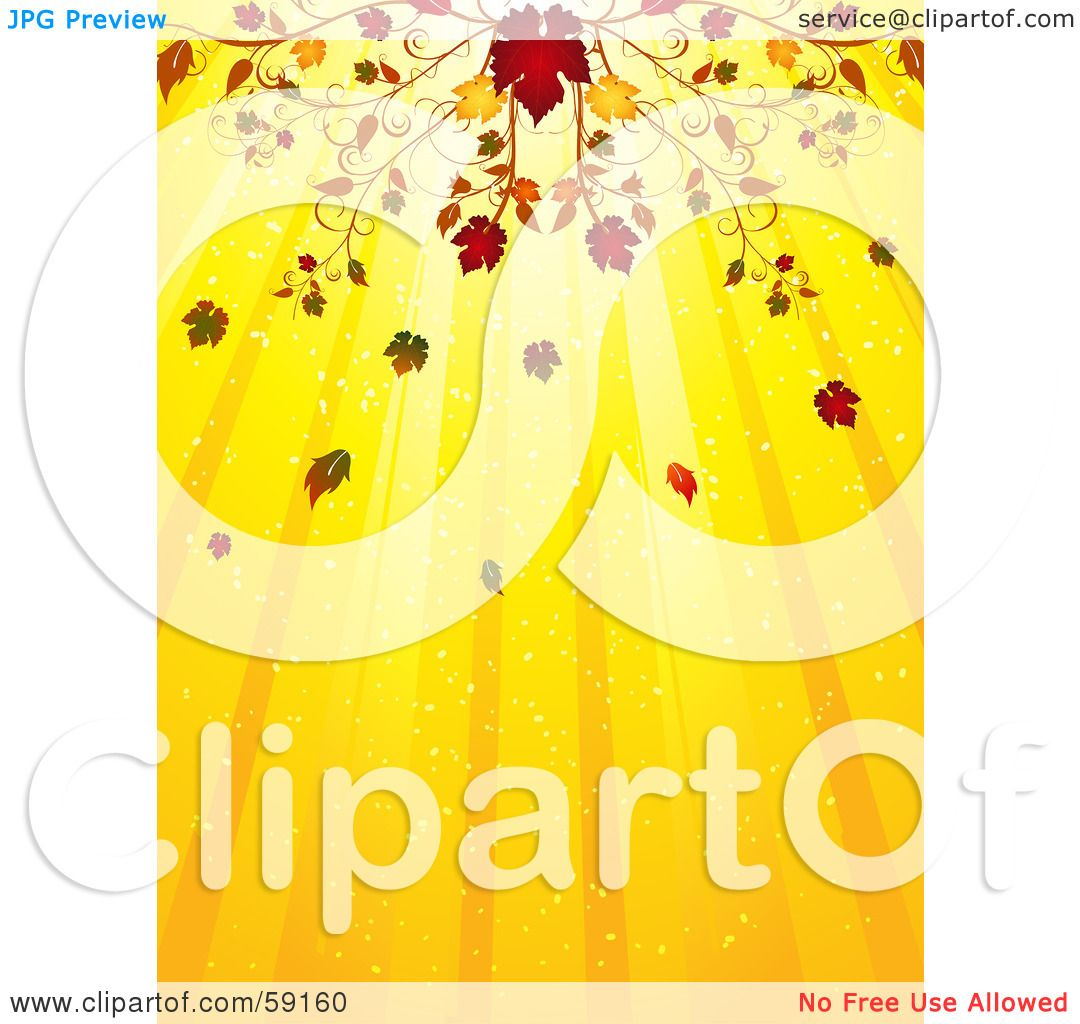 hight resolution of royalty free rf clipart illustration of an elegant fall flourish above a yellow background of light rays by elaineitalia