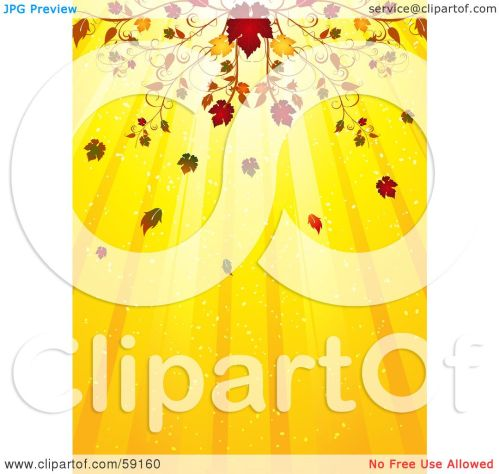 small resolution of royalty free rf clipart illustration of an elegant fall flourish above a yellow background of light rays by elaineitalia