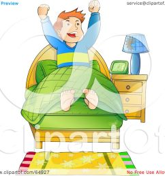 royalty free rf clipart illustration of an energetic boy waking up in the [ 1080 x 1024 Pixel ]