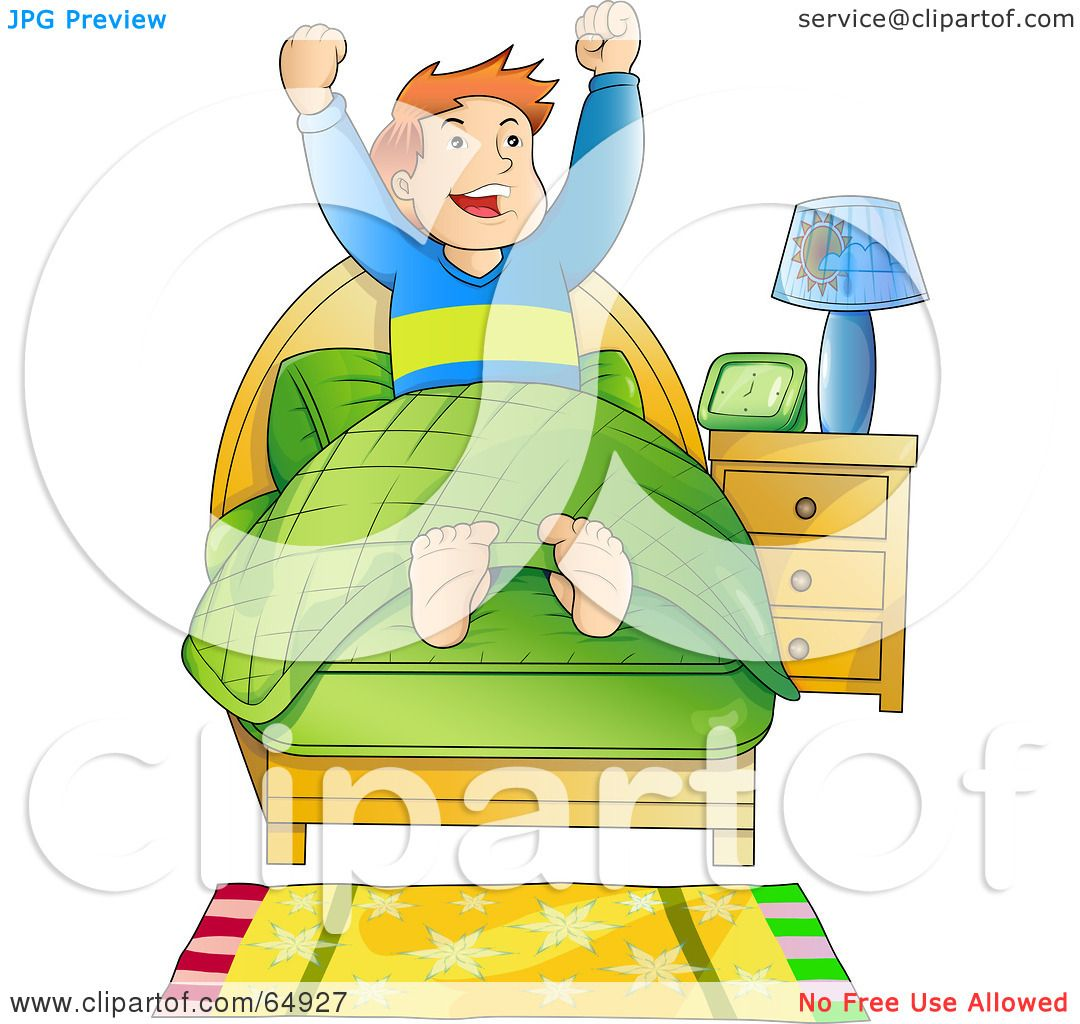 hight resolution of royalty free rf clipart illustration of an energetic boy waking up in the