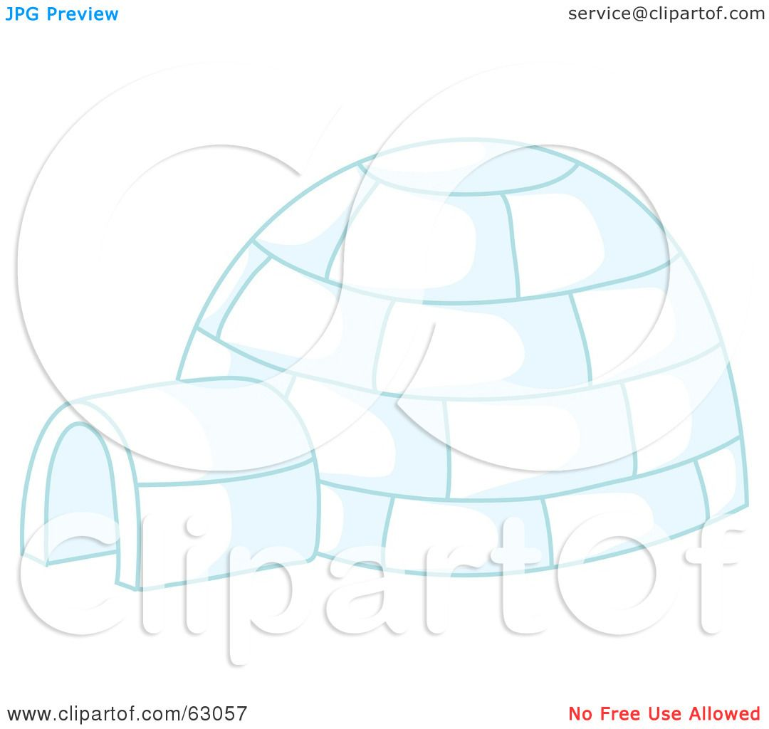 hight resolution of royalty free rf clipart illustration of an igloo with blue lighting by rosie