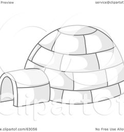 royalty free rf clipart illustration of an igloo with gray shadows by rosie [ 1080 x 1024 Pixel ]