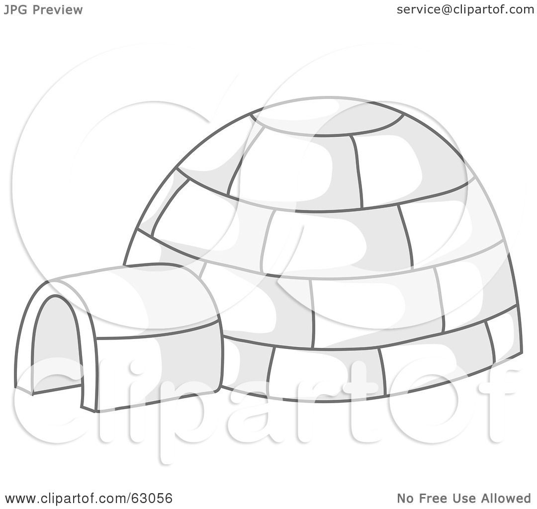 hight resolution of royalty free rf clipart illustration of an igloo with gray shadows by rosie