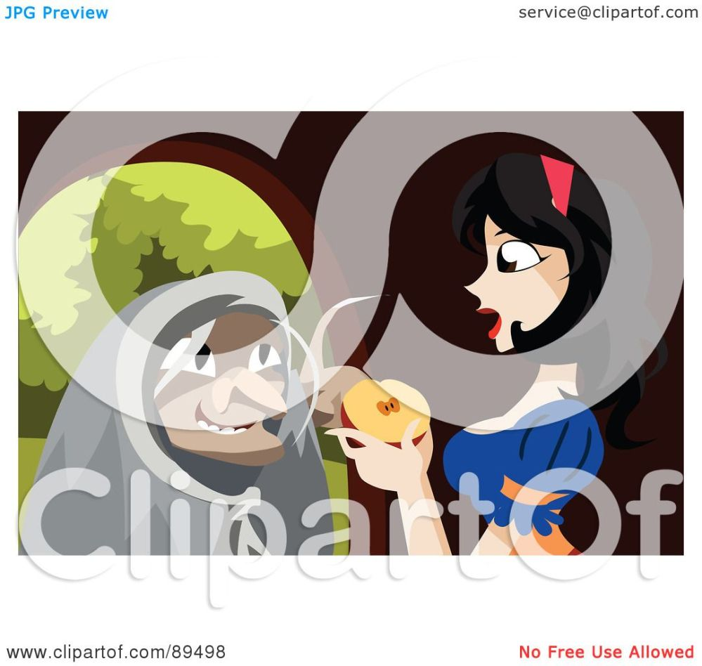 medium resolution of royalty free rf clipart illustration of an old witch urging snow white to